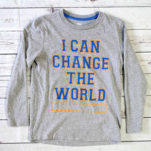 4/$25 Old Navy gray I Can Change the World shirt